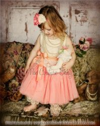 Sherbert Vintage Lace Dress - The Couture Baby