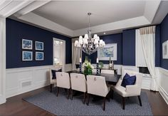 Benjamin Moore Old Navy. Benjamin Moore Old Navy Paint Color #BenjaminMooreOldNavy Jane Lockhart Interior Design