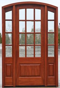 Nick's has mahogany exterior doors with sidelights and transoms. Solid mahogany doors made to fit almost every opening. Exterior Doors With Sidelights, Front Doors With Windows, Porch Doors, Wood Entry Doors, Wood Exterior Door, Arched Doors, Entrance Doors, Modern Front Door, House Front Door