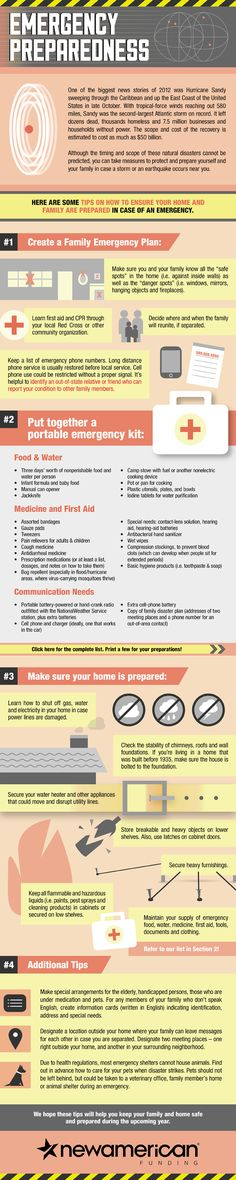 Are you ready in case of an emergency or disaster? Get prepared with our emergency preparedness infographic.