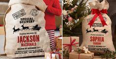 Personalized Burlap Santa Sack   Jane