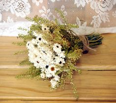 Simple COUNTRY Bridesmaid Dried Flower Bouquet - Perfect for your Rustic Wedding. $15.00, via Etsy.