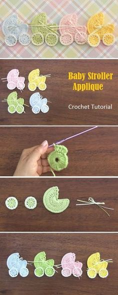 Today we have one of the cutest project tutorials on our display. Baby stroller applique is easily on of the most adorable crochet project you can find and on t
