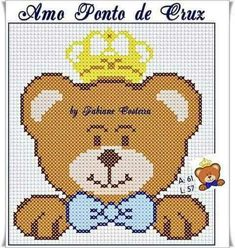 Cross Stitch Baby, Baby Quilts, Baby Kids, Stencils, Teddy Bear, Fictional Characters, Sewing Diy, Raiders, Cute Cross Stitch