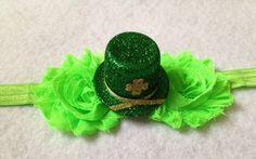 St Patricks Hat Headband  by BrittsBeautyBoutique on Etsy, $6.50