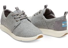 Good pair of walking shoes that goes with my cute clothes // — size 8 // Grey Felt Suede Women's Del Rey Sneakers | TOMS
