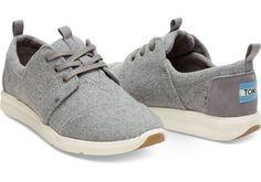 Grey Felt Suede Women's Del Rey Sneakers | TOMS (Size 9.5 please)