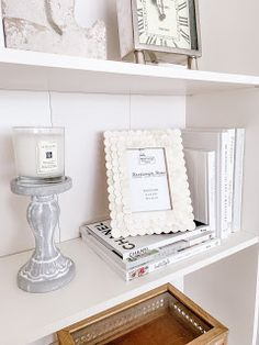Emma Courtney: Amazon Home Decor Favourites Amazon Home Decor, Home Decor Items, Current Time, Stack Of Books, Beaded Garland, Coffee Table Books, Candlestick Holders, Picture Frames, Bookends