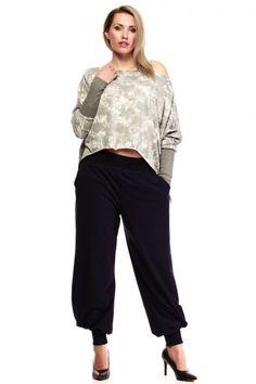 Asymetryczna bluza w rozmiarze plus size Harem Pants, Capri Pants, Fashion, Moda, Harem Trousers, Capri Trousers, Fashion Styles, Harlem Pants, Fashion Illustrations