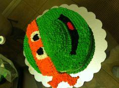 Ninja turtle cake for Julia!