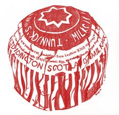 Tunnocks Tea Cake pen drawing on Behance