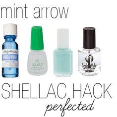 shellac hack - perfected. by mintarrow.com by mintarrow, via Polyvore