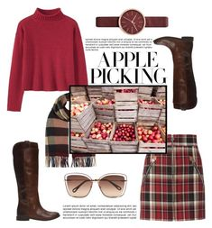 """Burgundy Fall Look"" by missmodel13 ❤ liked on Polyvore featuring Burberry, rag & bone, Frye, Chloé and Skagen"