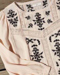 Oakes Embroidered Blouse | Joie
