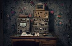 Vyacheslav Korotki's radio, which he uses to transmit weather data to another…