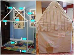 PVC pipe cubby house