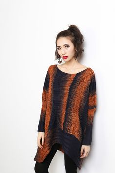 Bat's-wing-sleeved Sweater