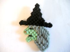 Plastic Canvas Halloween Witch Magnet by JansCraftShop on Etsy, $3.00