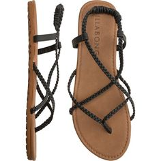 BILLABONG Crossing over sandal ($20) ❤ liked on Polyvore featuring shoes, sandals, flats, sapatos, flexible shoes, woven shoes, woven sandals, flats sandals and braided sandals