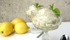 This easy vegan Lemon Balm Ice Cream recipe can be made in your food processor or blender, no ice cream maker necessary!