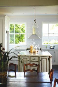 white and wood interiors design