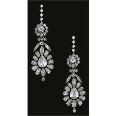 Diamond Pendent Earrings - c. 1830 - belonged to the 4th Marchioness of Headfort - $42,500 at auction