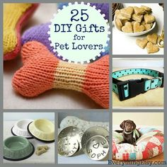diy gifts DIY Twenty Five Tutorials for Pets and Their Owners from Everything Etsy here.The list has everything from dog treats to a pet bed to homemade dog shampoo. Animal Projects, Animal Crafts, Dog Crafts, Diy Projects, Gifts For Pet Lovers, Pet Gifts, Dog Lovers, Puppy Gifts, Homemade Dog
