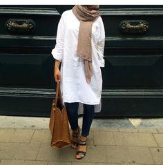 ♡ Pinterest ¤▪¤ @djihenea ♡ Islamic Fashion, Muslim Fashion, Modest Fashion, Hijab Fashion, Girl Fashion, Fashion Outfits, Casual Hijab Outfit, Hijab Chic, Modest Wear