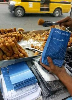 Various Fried fritters / Gorengan in Jakarta Streets.