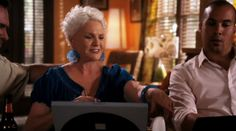 "Burn Notice 5x13 ""Damned If You Do"" - Madeline Westen (Sharon Gless) & Jesse Porter (Coby Bell)"