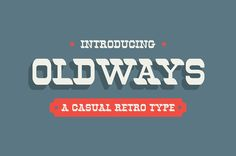 Free retro font with extended license