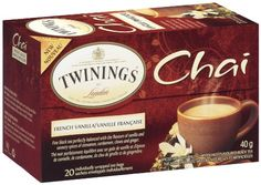 Twinings Chai Tea, French Vanilla, 20 Count Bagged Tea (6 Pack) * Learn more by visiting the image link.