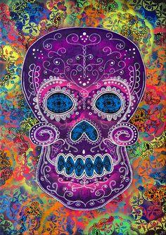 'Sugar Skull'. Artist, Dave Toulson of Tenbomb Artwork.
