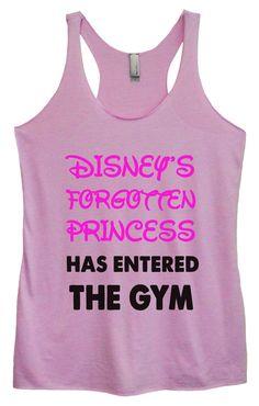 Womens Tri-Blend Tank Top - Disney's Forgotten Princess Has Entered The Gym