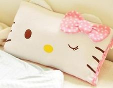 New Hello Kitty Face Soft Pillowcase Pink 60*40cm / 23.6*15.7inch Free Shipping