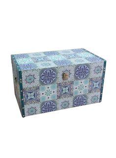 A Loja do Gato Preto | Baú Azulejo Azul #alojadogatopreto