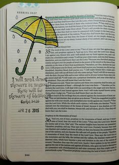 Showers of Blessing by Paula Kay Bourland Stamps by Our Daily Bread Designs