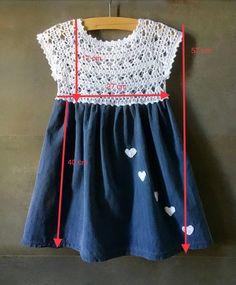 Vestito bambina - Crochet Little Girl Dresses, Girls Dresses, Summer Dresses, Crochet Baby Booties, Knit Crochet, Vestidos Bebe Crochet, Poncho, Baby Dress, Kids Girls