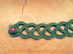 Crochet bracelet ~ Free Pattern
