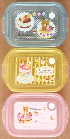 Rilakkuma with sweets Bento Box 3 pcs Lunch Box