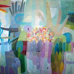 "Saatchi Online Artist Julie Hendriks; Painting, ""Garden"" #art"