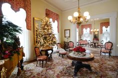 Homes for the Holidays: Magnolia Hall, Natchez's historical 1858 home, plays host for the holidays. Photo by Greg Campbell for Mississippi Magazine.
