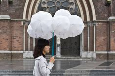 cloud umbrella I wonder how many doubletakes you'd get walking around with this...