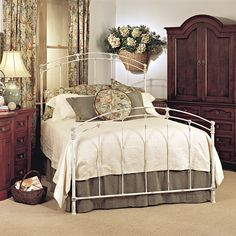 Old Biscayne Claire Antique Wrought Iron Bed