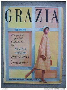 GRAZIA rivista di moda italiana 16/03/1958