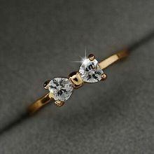 Anillos Anéis de cristal do Sexo Feminino Banhado A Ouro Zircão Arco Anel de Dedo Para As Mulheres Anel de Noivado Casamento Jóias Acessórios R513(China (Mainland))