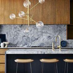 "389 Likes, 9 Comments - Kris Turnbull Studios (@kristurnbullstudios) on Instagram: ""Urban Glam #Kitchen #Design #Contemporary #InteriorDesign #Architecture #Energy #Materials #Colours…"""