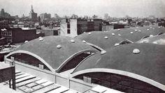 Mercado de la Lagunilla, Av. Heroes de Granaditas, Col. Centro, México DF, 1956    Arqs. Pedro Ramírez Vázquez y Rafael - Mijares    Lagunilla Market, Mexico City, 1956