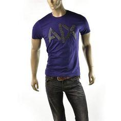 Armani Exchange Mens T Shirt A|X Bead Logo