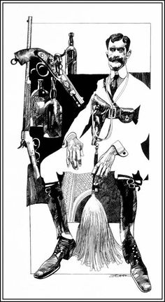 Illustration, cartoon by Sergio Toppi (b. 1932 - d. Illustration Sketches, Art Sketches, Steampunk, Hugo Pratt, Serpieri, Comic Manga, Bd Comics, Italian Artist, Art Graphique